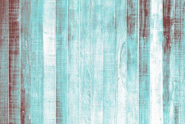 Porysowana turkusowa drewniana podłoga teksturowana w tle