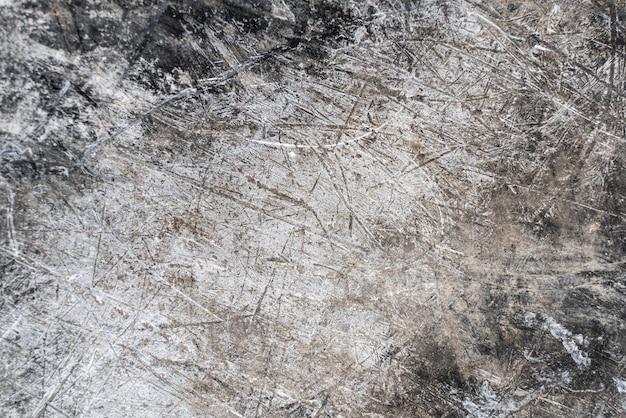 Porysowany metalowe tło grunge. zardzewiała tekstura metalu falistego, ściana cynkowa. koncepcja metalowych tekstur