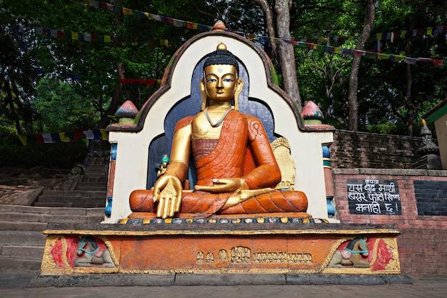 Posąg buddy w swayambhunath