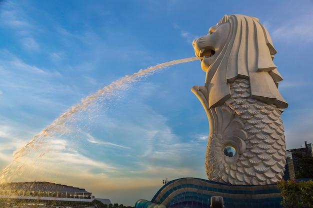 Posąg fontanny merlion