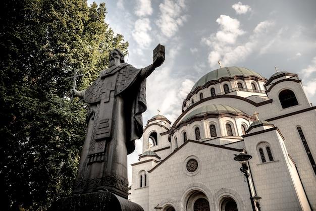 Posąg św. sawy w belgradzie, serbia