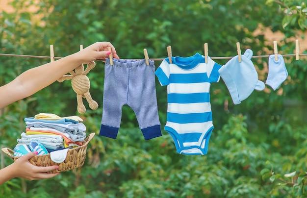 Pościel dla niemowląt, pościel wysycha na świeżym powietrzu