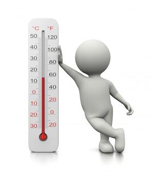 Postać 3d oparta na termometrze