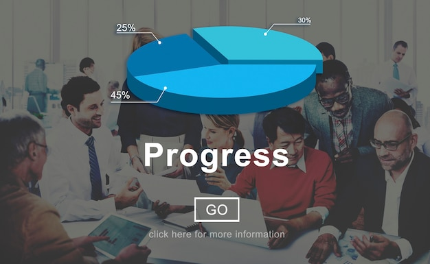 Postęp misja move forward improvement concept