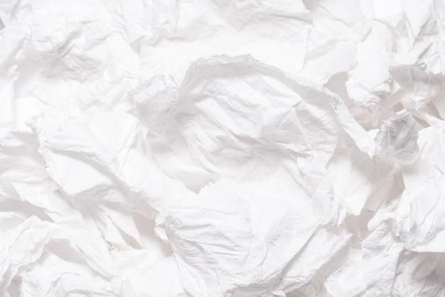 Poszarpany zmięty biały papier textured tło