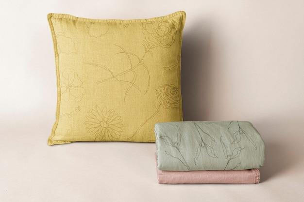 Poszewka na poduszkę, pościel z naturalnej tkaniny