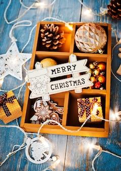 Powierzchnia dekoracji świątecznych na życzenia z wolnym miejscem na tekst