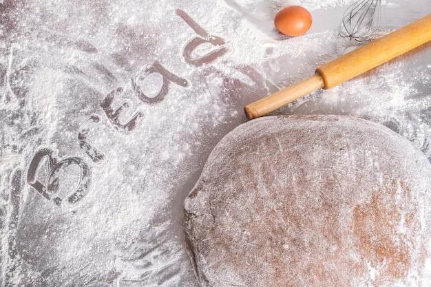 Powierzchnia do pieczenia chleba. widok z góry