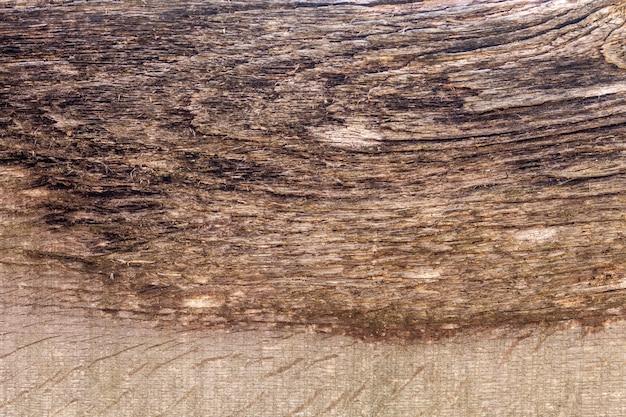 Powierzchnia erozji przez czas starego drewna tekstury tła