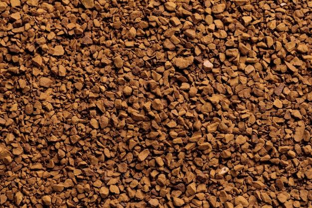 Powierzchnia kawy rozpuszczalnej