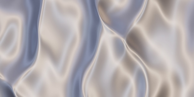 Powierzchnia metalowa stal nierdzewna, smuga aluminium pofałdowana stalowa powierzchnia pomarszczone żelazo błyszczące ilustracja 3d