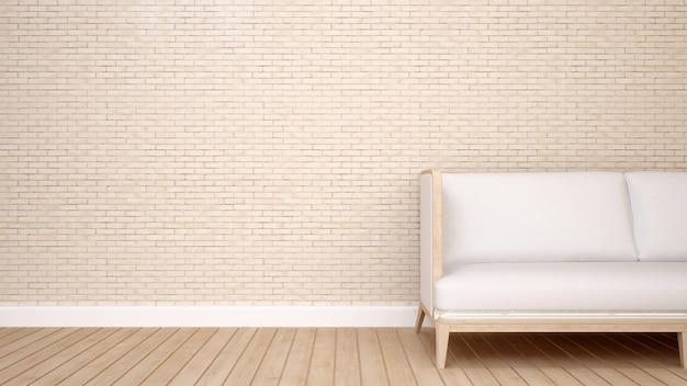 Powierzchnia mieszkalna w domu lub domu - renderowanie 3d