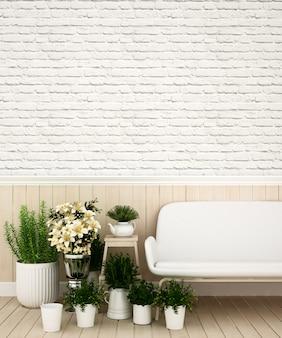 Powierzchnia mieszkalna w domu lub mieszkaniu - rendering 3d