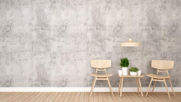 Powierzchnia mieszkalna w kawiarni lub restauracji - rendering 3d