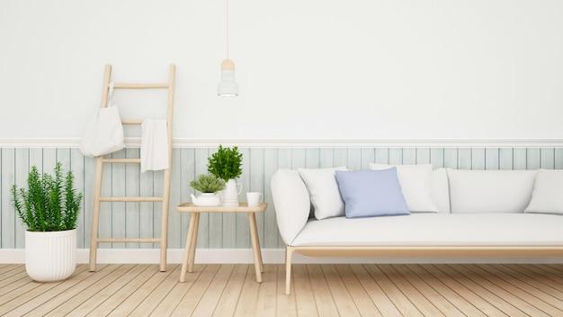 Powierzchnia mieszkalna w kondominium lub domu - renderowania 3d
