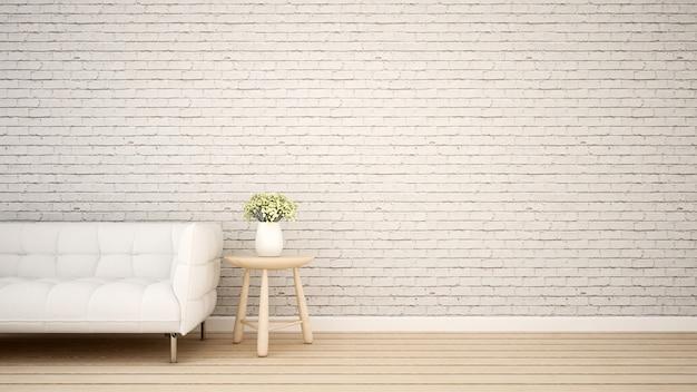 Powierzchnia mieszkalna w mieszkaniu lub kawiarni - rendering 3d