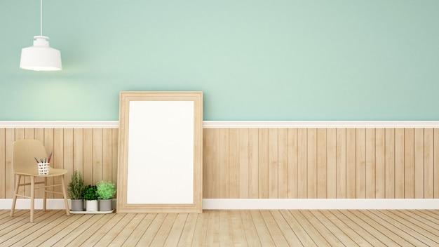 Powierzchnia mieszkalna w zielonym pokoju