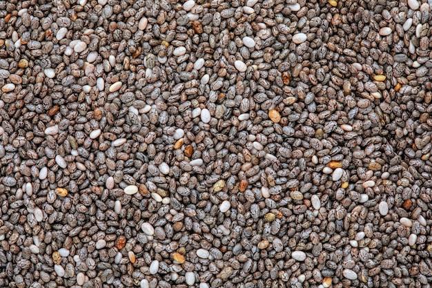 Powierzchnia nasion chia