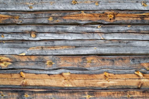 Powierzchnia starej drewnianej popękanej ściany. suszone tekstury drewna