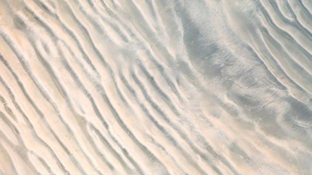 Powietrzny odgórny widok, powierzchnia piasek plaży tło, tapeta