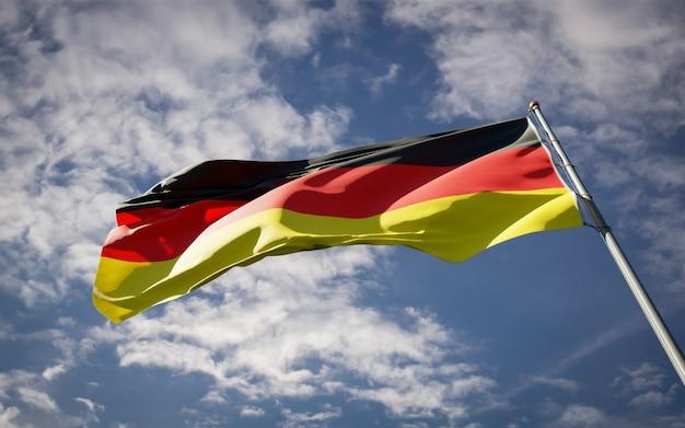 Powiewająca piękna flaga państwowa niemiec