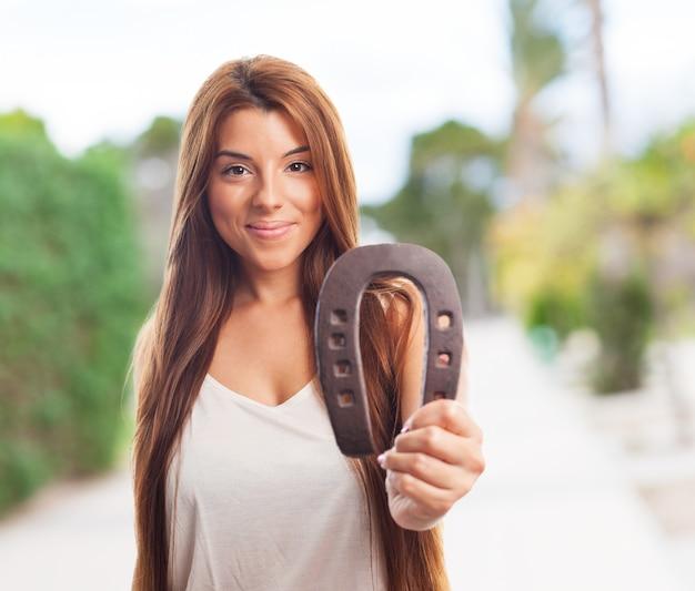Powodzenia portret kobiety brunetka