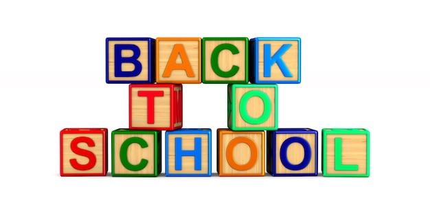 Powrót do szkoły z drewnianych kostek