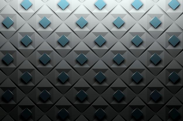 Powtarzający się geometryczny wzór mozaiki z kwadratami w kolorach czarnym i niebieskim