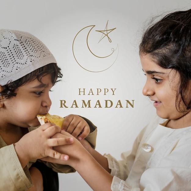 Pozdrowienie świętego miesiąca ramadanu na post w mediach społecznościowych