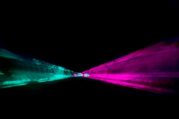 Poziome tło lasera optycznego