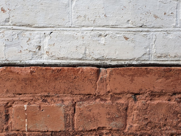 Poziome tło starej cegły