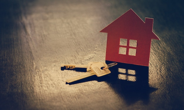 Pożyczki mieszkaniowe pojęcie posiadania wymarzonego domu.