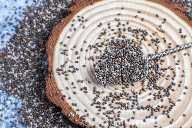 Pożywne nasiona chia.