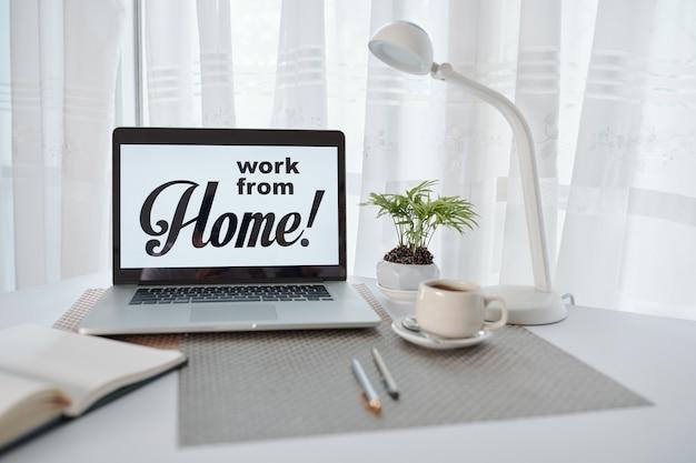 Praca w domu podczas kwarantanny