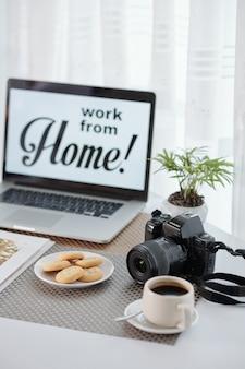 Praca w domu podczas pandemii koronawirusa