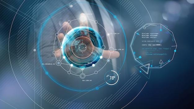 Praca z wirtualnym panelem dotykowym przyszłości