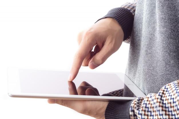 Prace wyświetlacz technologia ludzka ręka