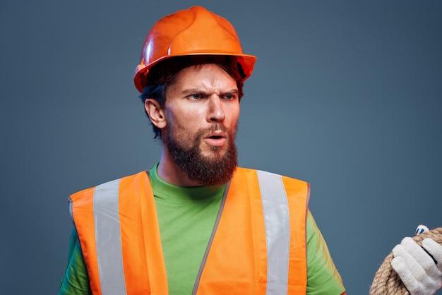 Pracownik emocjonalny budowy munduru profesjonalny