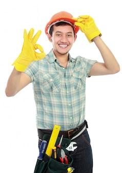 Pracownik z ok znakiem