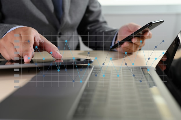 Pracuj ciężko analiza danych statystyki informacje biznes technologia