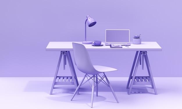 Pracujący akcesoria na biurko mono kolorze odpłacają się tło
