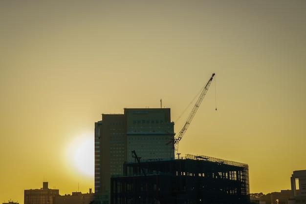 Pracy drapacz chmur dom betonowej inżynierii