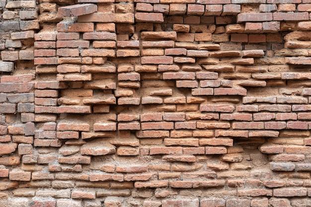 Prawdziwa Czerwona Stara Cegła Z Budynku Dziedzictwa Premium Zdjęcia
