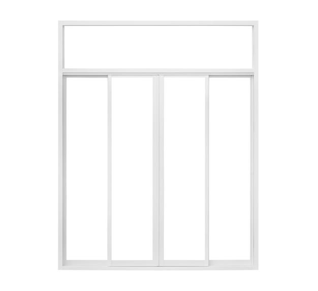 Prawdziwe nowoczesny dom rama okienna na białym tle