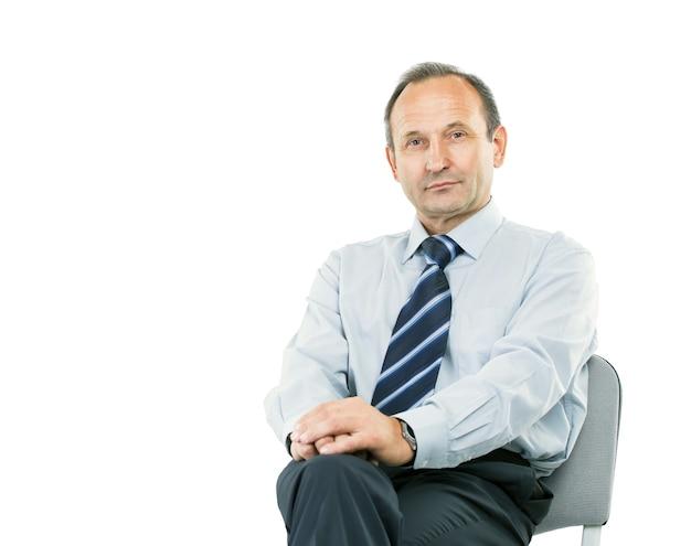 Prawnik konsultant siedzi