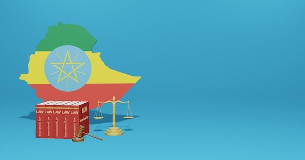 Prawo etiopii dotyczące infografik, treści w mediach społecznościowych w renderowaniu 3d