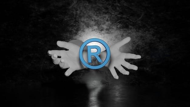 Prawo patentowe prawa autorskie własność intelektualna biznes internet technologia koncepcja d rendering