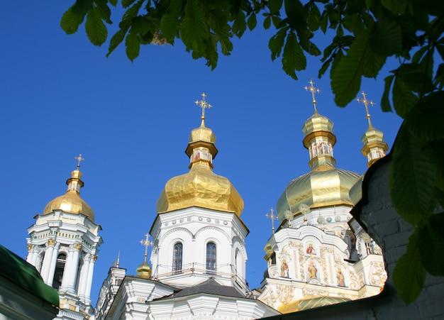 Prawosławna świątynia chrześcijańska ławry pieczerskiej w kijowie