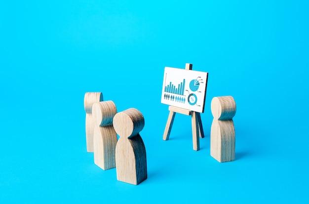 Prelegent liczb przedstawia prezentację wyników pracy i podsumowuje wyniki kolegom