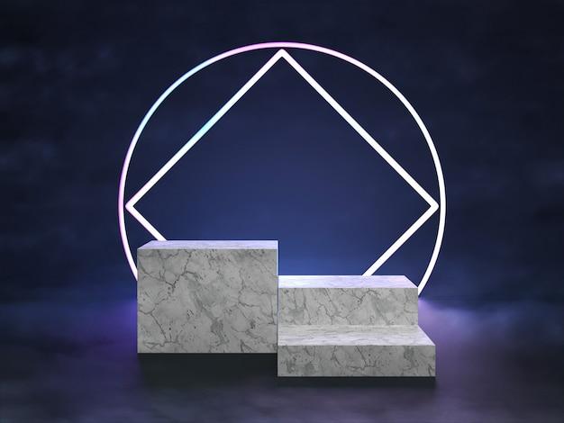 Prezentacja podium na scenie świetlnej futuryzmu